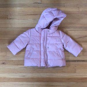 Toddler Pink Puffer Down Alternative Coat